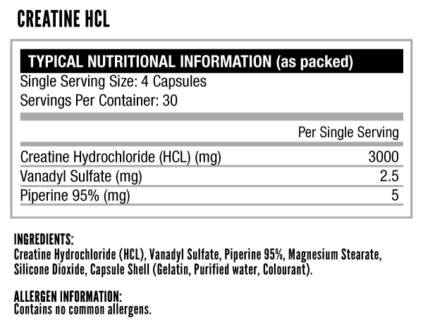 Creatine-HCL-nutritional-info