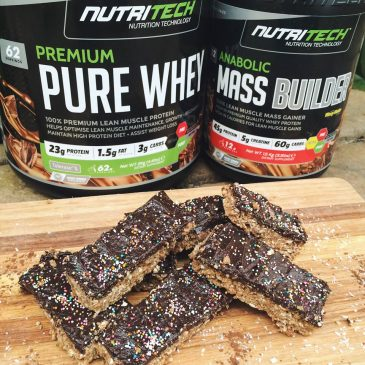 CHOCOLATE PROTEIN FUDGE BARS